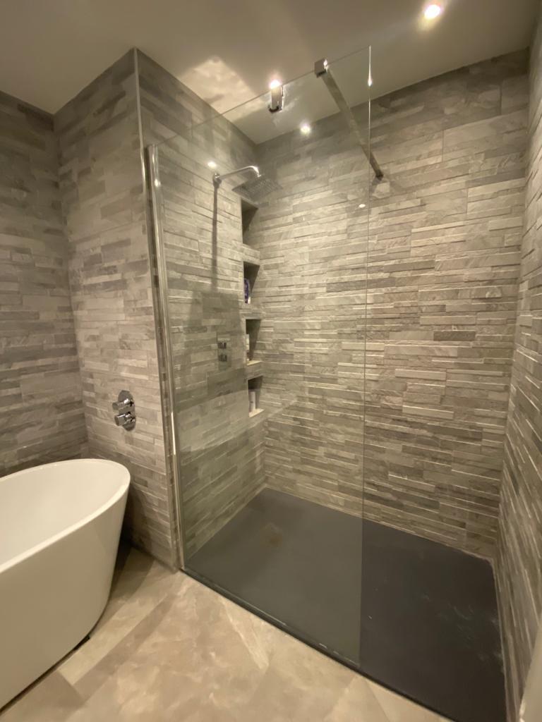 Renovated modern bathroom