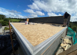 Building roof of new extension
