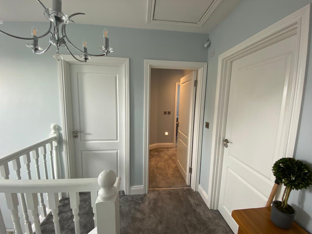 Modern hallway with neutral colours