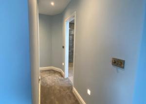 Renovated modern hallway