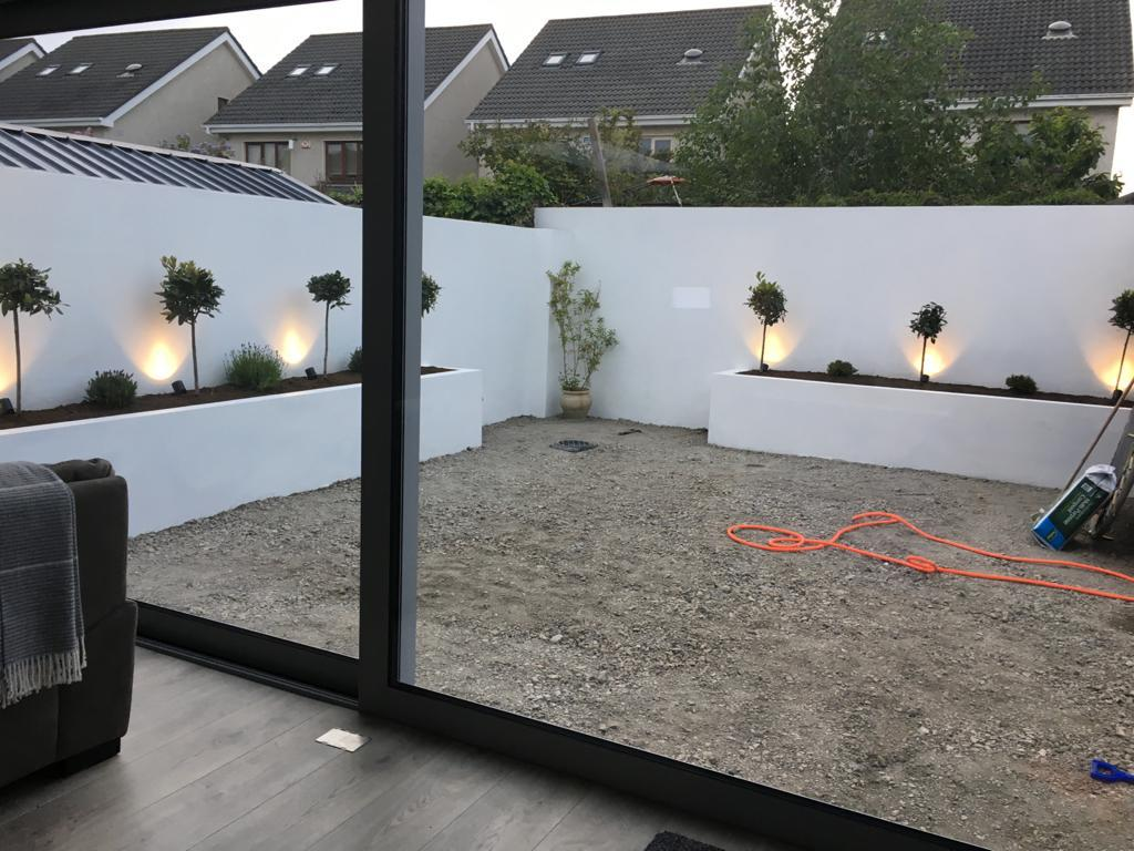 Renovated outdoor patio area with aesthetic lights installed, Image 10