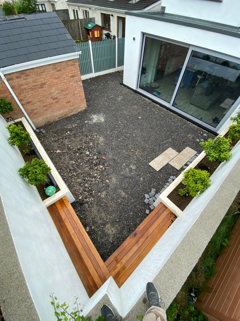 Garden renovation before new patio