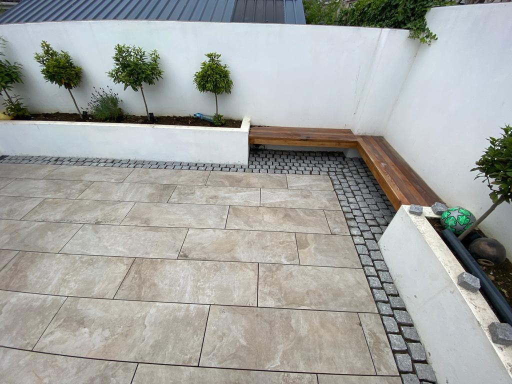 Renovated outdoor modern patio area, image 2