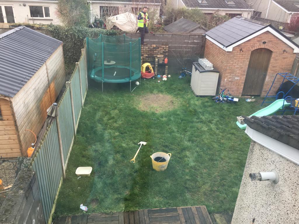 Garden before patio was installed